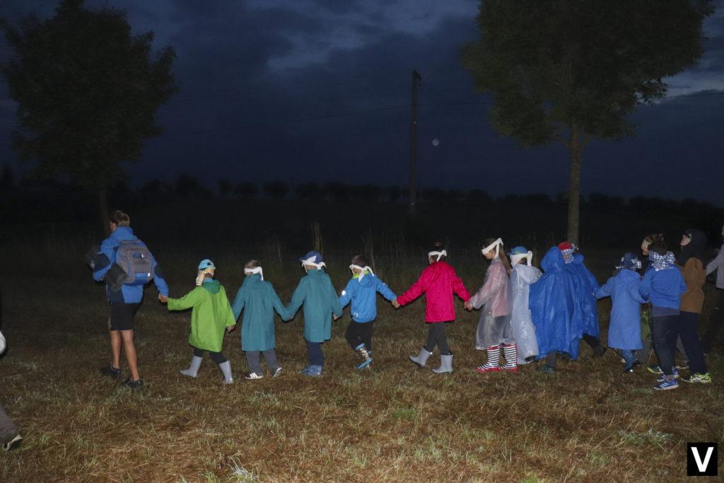 Noční hra na táboře