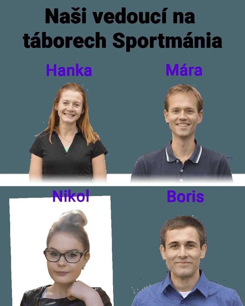Vedoucí pro první turnus letních táborů Sportmánia